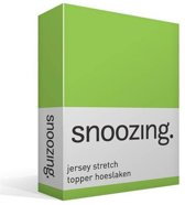 Snoozing Jersey Stretch - Topper - Hoeslaken - Tweepersoons - 120/130x200/220 cm - Lime