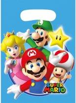 Super Mario thema feestzakjes - 8 stuks - uitdeelzakjes