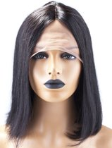 Indian Human Hair Lace Wig 14inch ST BoB Style