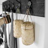 Kapstok Zwart 6 haken | Wandkapstok | Handgemaakt | Kapstok Hout