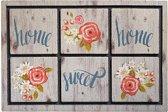 Schoonloopmat met print / Ecomaster Home Sweet Home 007 / 40 cm x 60 cm / Home Sweet Home 007