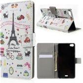 Palettes print wallet case hoesje Huawei G Play Mini