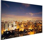 FotoCadeau.nl - Soa Paulo bij nacht Aluminium 30x20 cm - Foto print op Aluminium (metaal wanddecoratie)