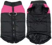Body warmer voor honden - Honden bodywarmer - Maat XL - Zwart met roze