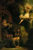 Rembrandt Van Rijn's 'the Archangel Leaving Tobias' Art of Life Journal (Lined)