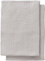 Cottonbaby Multidoek soft S 60x70 per2 lichtgrijs