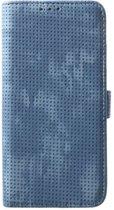 Shop4 - Samsung Galaxy S10 Plus Hoesje - Wallet Case Mesh Dots Blauw