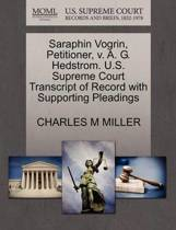 Saraphin Vogrin, Petitioner, V. A. G. Hedstrom. U.S. Supreme Court Transcript of Record with Supporting Pleadings