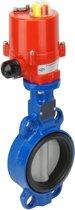 DN40 12VAC Wafer Elektrische Vlinderklep GGG40-RVS-EPDM - BFLW - BFLW-40-BBA-AG4-012AC
