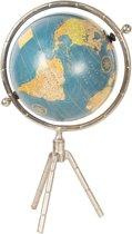 Wereldbol/globe 23*20*41 cm Blauw | 64191 | Clayre & Eef