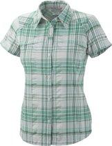 Columbia Silver Ridge Multiplaid Short Sleeve Shirt - dames - blouse korte mouwen - maat XL - groen/wit geruit