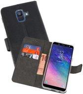 Wallet Cases Hoesje Galaxy A6 (2018) Zwart