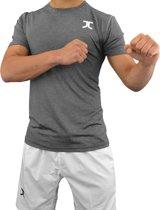 Zomer-taekwondopak (dobok) JC | antracietgrijs-wit | 200