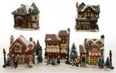Kerstdorp Serie van Winkels - met verlichting - 5 stuks