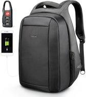 Tigernu Protector - Professionele laptop rugzak - anti diefstal usb - 12,5 tot 15,6 inch - zwart