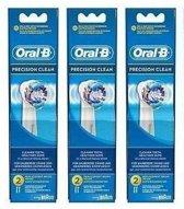 Oral-B Precision Clean - 3 x 2 stuks - Opzetborstels - Voordeelverpakking