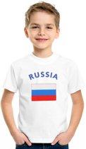 Kinder t-shirt vlag Russia Xs (110-116)