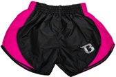 Booster Kickboks Short Retro Hybrid Zwart/Roze Medium