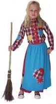 Halloween Kleurrijke heksen kostuum voor kinderen 140