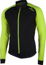 Rogelli Caluso 2.0 Fietsshirt - Heren - Maat L - Lange mouwen - Zwart/Geel