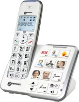 Geemarc PH-295 - Single DECT telefoon - Antwoordapparaat - Wit