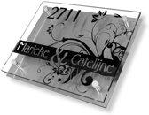 Namen enzo! Naambordje RVS | Acrylglas 20x15 cm barok