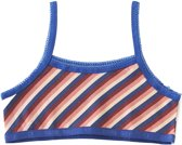 Little Label Meisjes croptop - stripes pink red blue