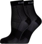 Craft Cool Mid 2-pack Sock Sportsokken Unisex - Black
