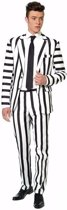 Halloween Beetlejuice look-a-like heren kostuum XL (56-58)