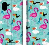 Mobigear Design Mobigear Tropical Design Wallet Bookcase Hoesje 7 iPhone X / Xs