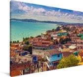 Itapajipe-baai in São Salvador bij Bahia in Brazilië Canvas 90x60 cm - Foto print op Canvas schilderij (Wanddecoratie woonkamer / slaapkamer)