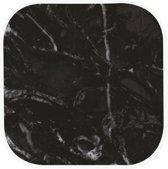 Zak!Designs Osmos Onderzetter - Melamine - 10 x 10 x 1,1 cm - Set van 4 Stuks - Zwart/Groen - Witte rand