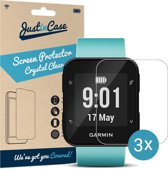 Just in Case Screen Protector voor Garmin Forerunner 35 - Crystal Clear - 3 stuks
