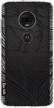 Casetastic Softcover Motorola Moto G7 / G7 Plus - Wavy Outlines Black