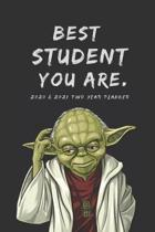 Best Student 2020 & 2021 Weekly Planner - Two Year Appointment Book - Funny Star Wars Yoda Quote - Agenda Notebook for New Year Planning, To-Do Lists,
