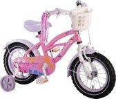 Yipeeh Spring Time - Kinderfiets - 12 Inch - Meisjes - Roze/Wit