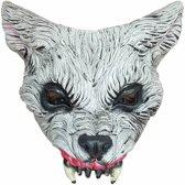 Halloween Masker Wolf Deluxe half