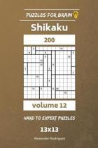 Puzzles for Brain - Shikaku 200 Hard to Expert 13x13 Vol. 12