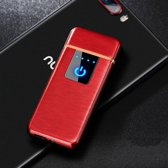 USB Elektrische Aansteker met Touchscherm - Vlamloze Aansteker - Geen Olie of Gas - Milieuvriendelijk - Bestand tegen de wind - Makkelijk Oplaadbaar aan je Laptop of PC  - Ideaal Cadeau voor Rokende Vrienden - Rode Kleur