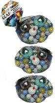 237x Gekleurde speelgoed knikkers - Verschillende formaten glazen knikkers - Knikkeren ouderwets buitenspeelgoed
