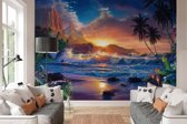 Strand Airbrush  - Fotobehang 366 x 254 cm