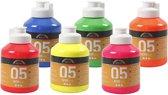 A-Color acrylverf, 6x500 ml, neon kleuren