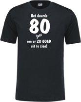 Mijncadeautje - Leeftijd T-shirt - Het duurde 80 jaar - Unisex - Zwart (maat 3XL)