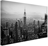 New York City zwart-wit fotoprint Canvas 30x20 cm