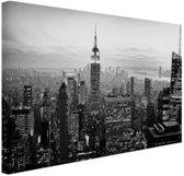 New York City zwart-wit  Canvas 30x20 cm - klein - Foto print op Canvas schilderij (Wanddecoratie woonkamer / slaapkamer)