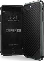 X-Doria Defense Lux cover - black carbon - voor iPhone 7 Plus - one part