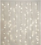 Kerstverlichting koel wit LED lichtgordijn 2,25x3 meter binnen/buiten - 480 witte kerstlampjes - Kerstversiering/kerstdecoratie