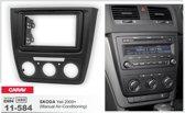 2-DIN SKODA Yeti 2009+ (Manual Air-Conditioning) inbouwpaneel Audiovolt 11-584
