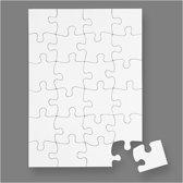 Puzzel, A5 15x21 cm, wit, 16stuks
