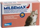 Milbemax Ontwormingsmiddel - Volwassen Kat En Kitten tot 2 kg - 2 Tabletten